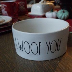 Rae Dunn dog food bowl